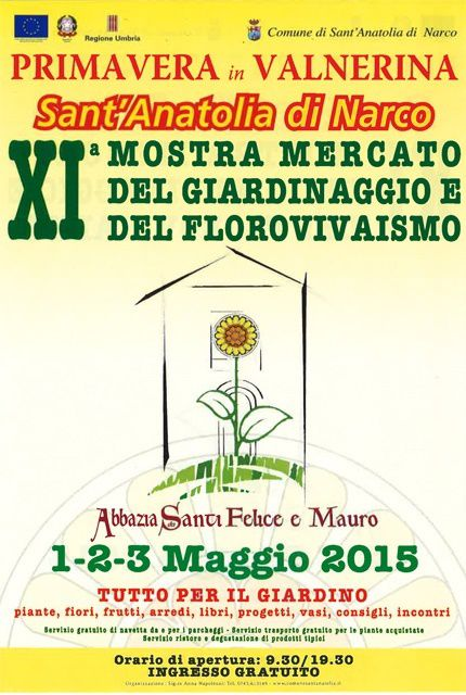 Torna la festa dei fiori Primavera in Valnerina a San Felice di Narco dal primo al tre maggio