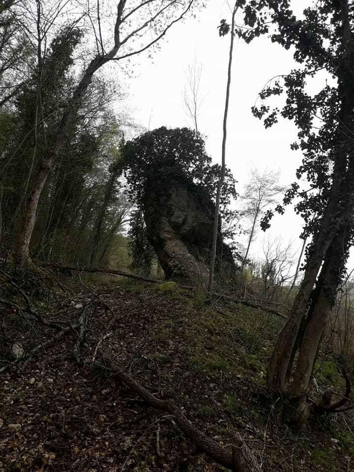 Un monolite tra i boschi della Valnerina