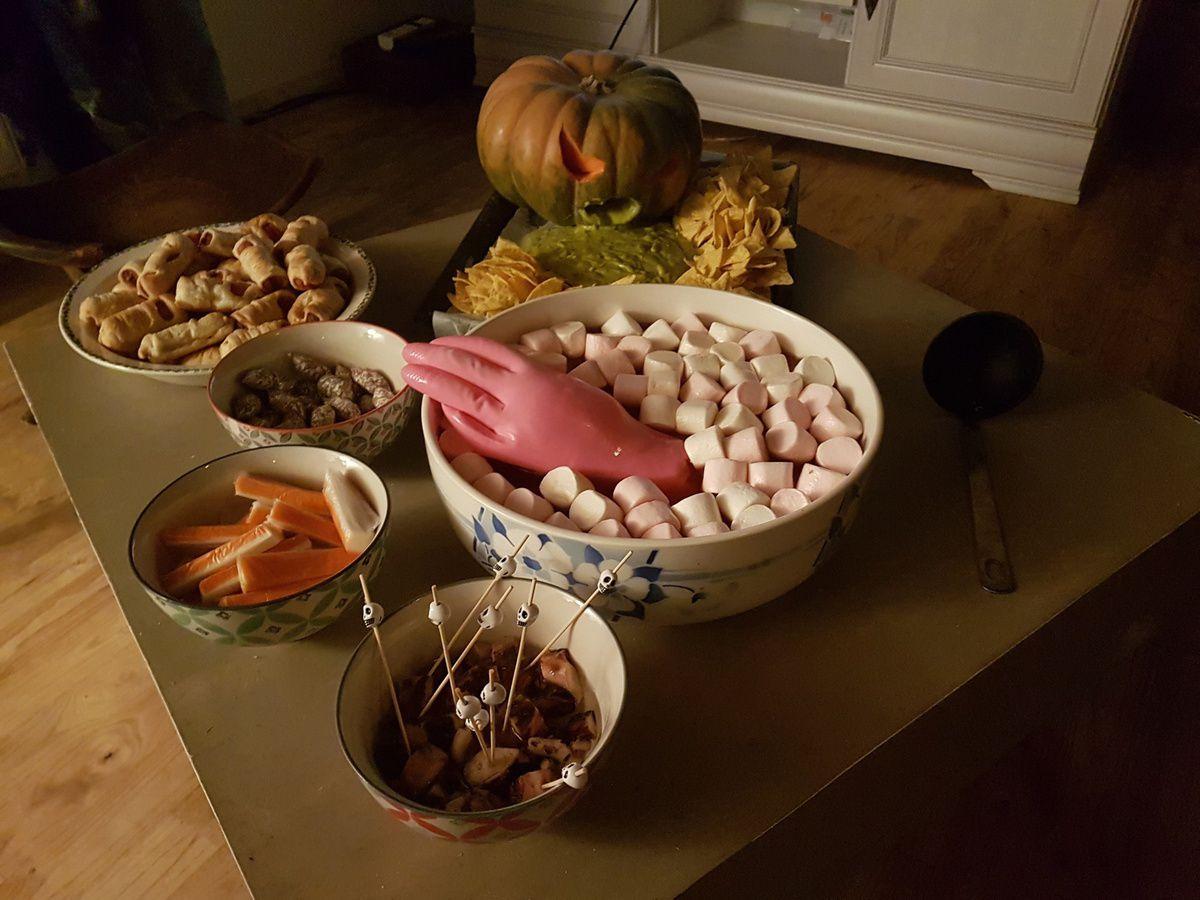 soirée halloween pour le challenge de Hilde et Lou