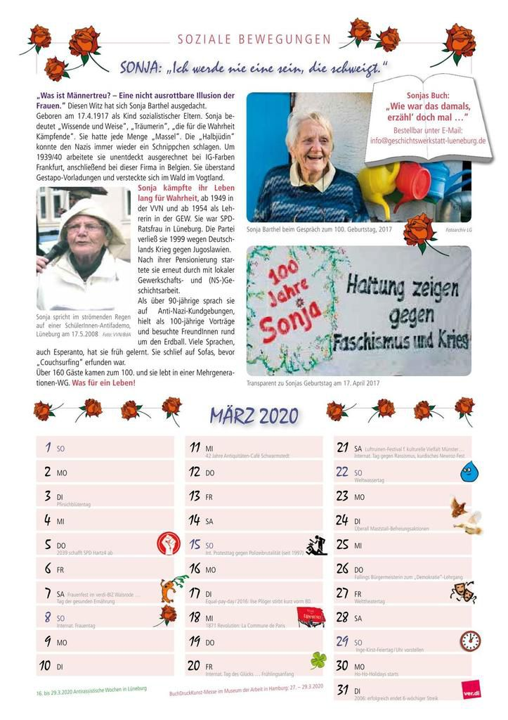 Kalender Soziale Bewegungen 2020