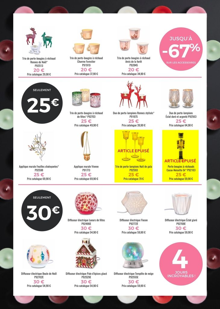 Black Friday PartyLite : du 24 au 27 nov. 2017