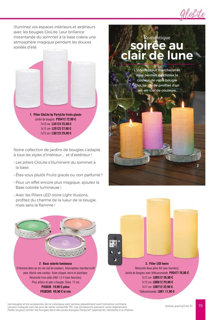 Collection Eté 2018 PartyLite