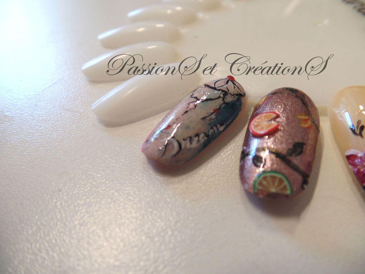 Nail Art - Attrape Rêves - Dreamcatcher - Dégradé - Vernis - Peinture - Strass - Plumes - Perles