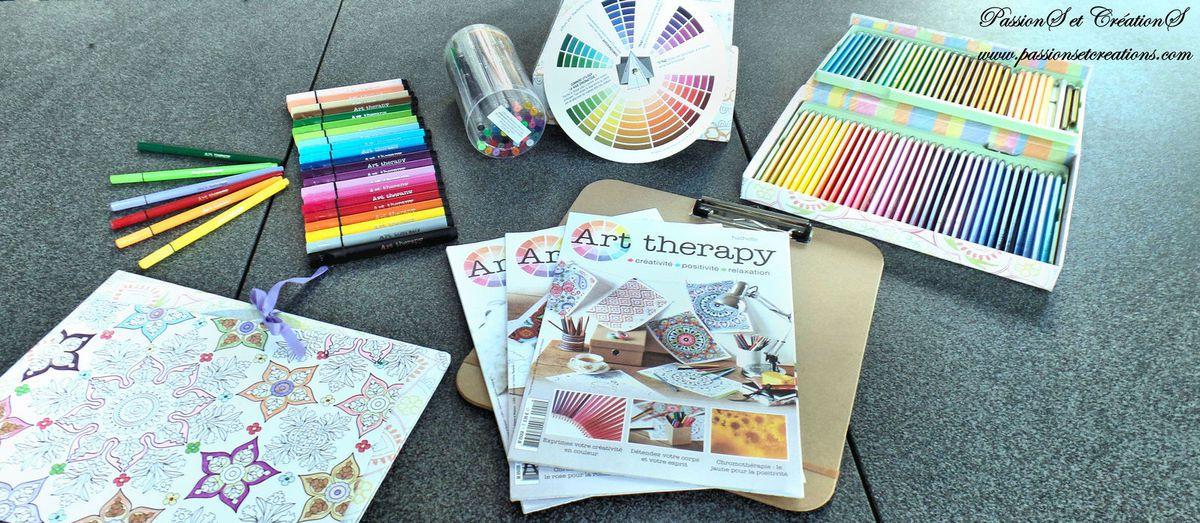 Présentation - Collection - Art Therapy - Hachette - Feutres - Crayons - Coloriage - Méditation - Détente