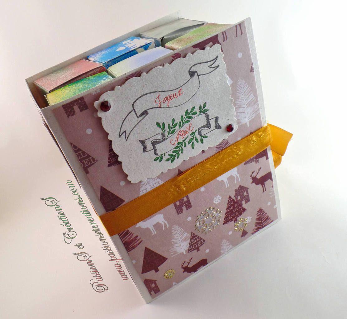 Calendrier de l'avent - Noël - 2017 - Facile - Livre - Ruban - Boites - Chocolat - Fermer - DIY