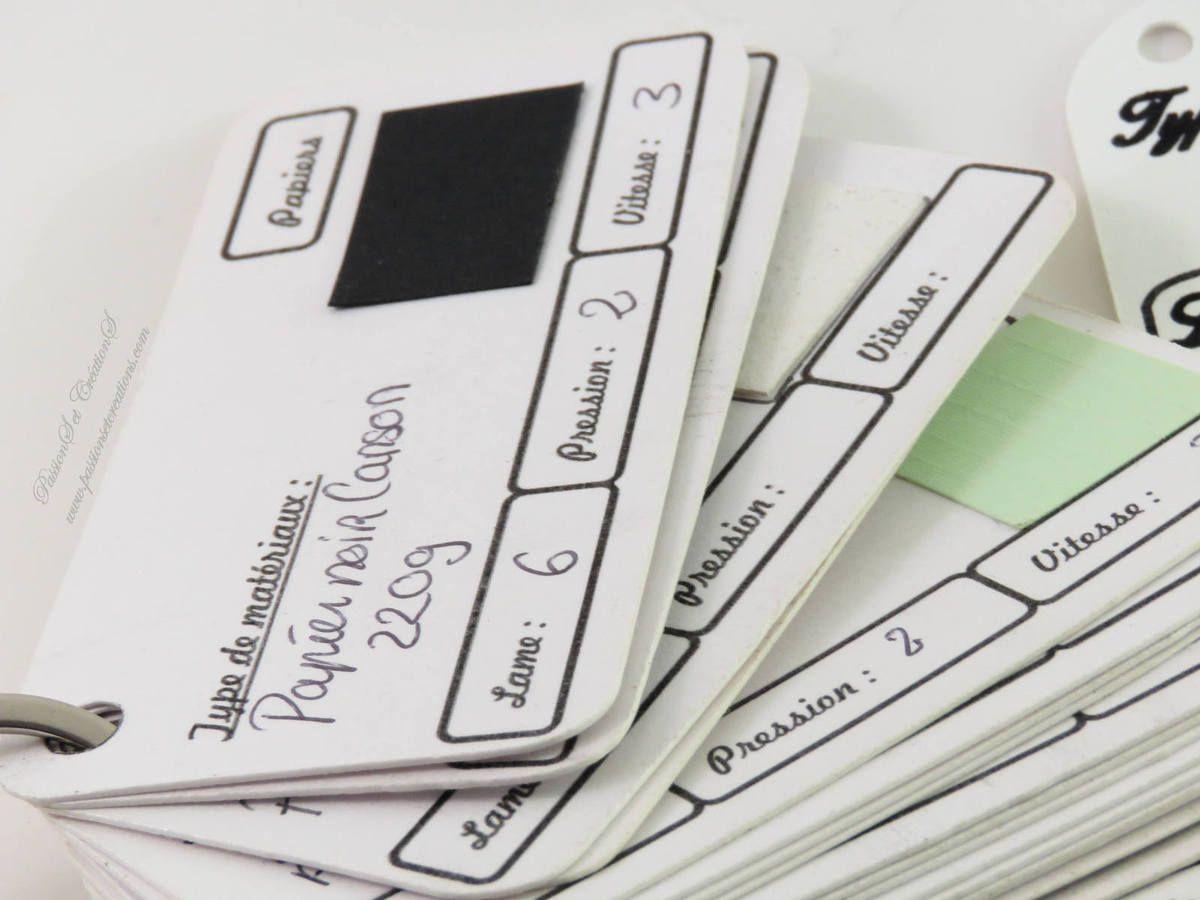 Echantillonnage - Papiers - Scrap - Scan N Cut - CM600 - Réglages - Machine - Modèles - PDF - Scan N Cut