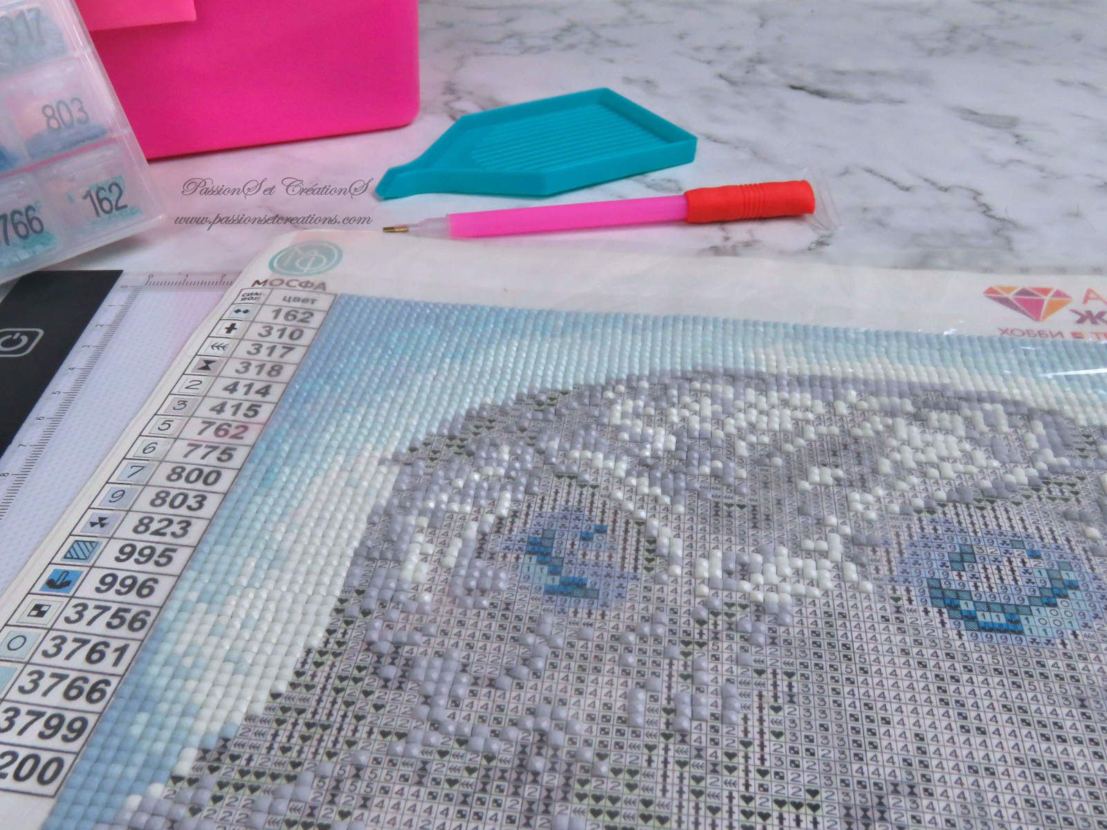 Chouette - Diamond painting - Confinement - Activitées - Strass - Outils - Stylos - Table Lumineuse - Speed Painting