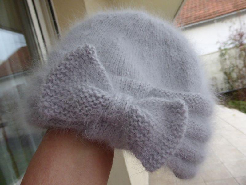 bonnet angora 70% GRIS PERLE