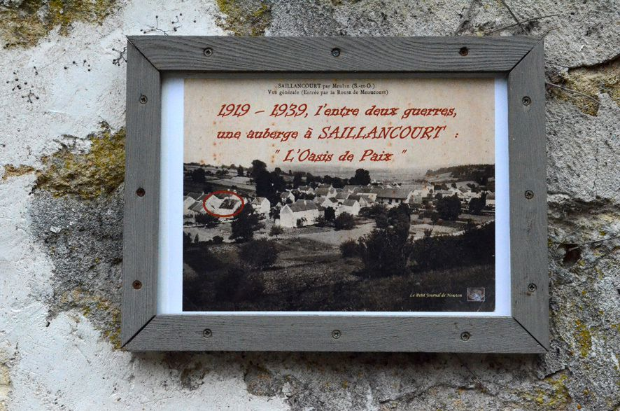 1919 - 1939, l'entre deux guerres, une auberge à SAILLANCOURT : L'OASIS DE PAIX