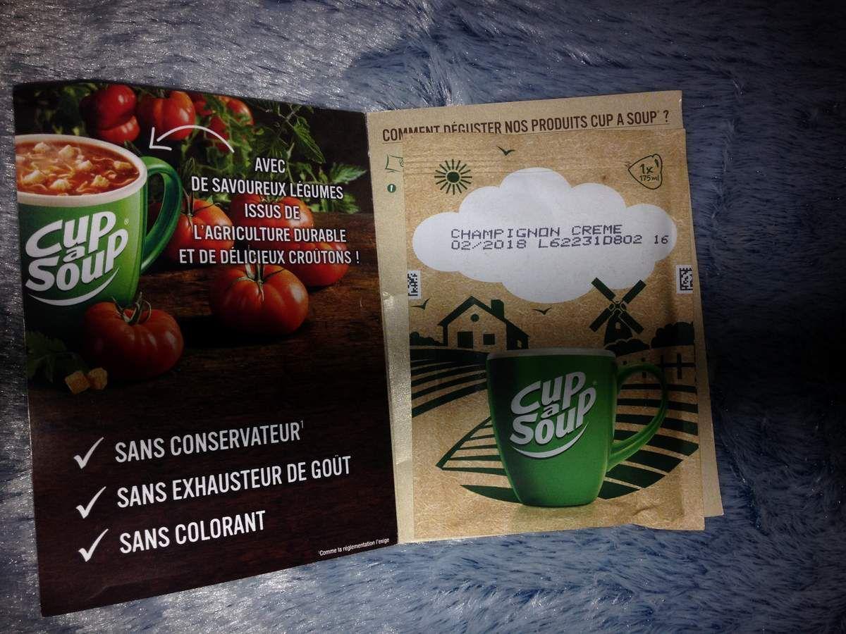 CUP A SOUP au VELOUTÉ DE CHAMPIGNONS prêt en 1 minute