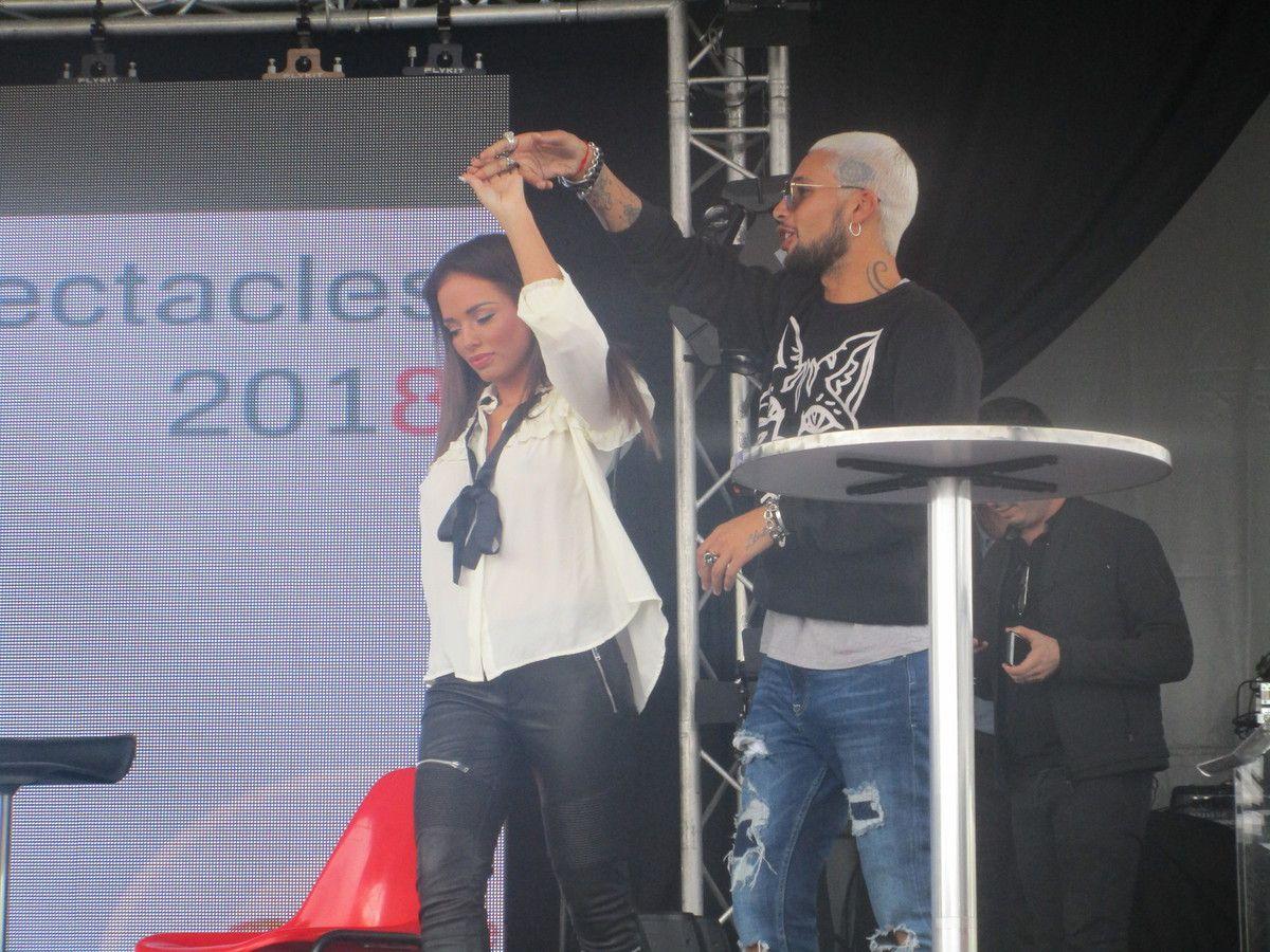 """Les candidats de l'émission de NRJ12 """"Les Anges 8"""" étaient à la foire-exposition de La Rochelle le 06/09/2017"""