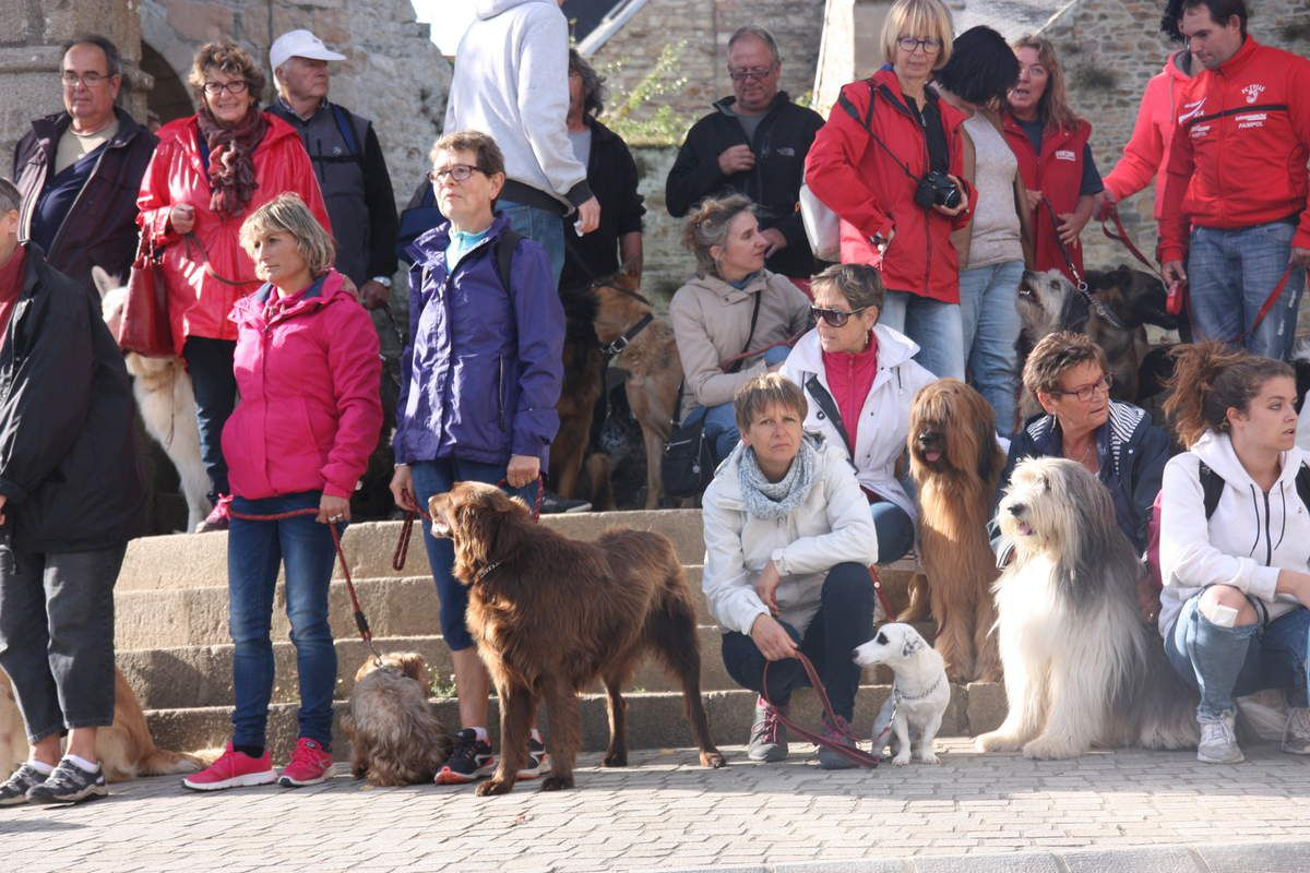 et photo de group sur les marches de la vieille tour