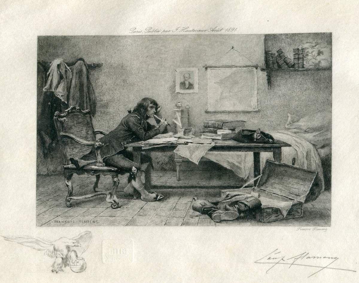 La chambre de Bonaparte à Auxonne par François Flameng (1856-1925)