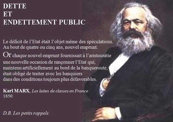 Réflexion de K. Marx sur l'endettement public