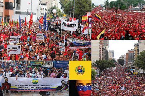 Manifestation géante à Caracas pour s'opposer au coup d'état !