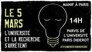 Le 5 mars 25000 manifestants demandent une autre politique dans la recherche