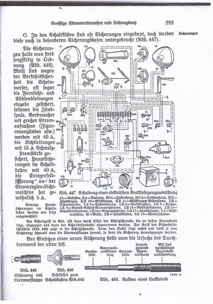 schéma électrique - Allemand - Français 3,5T - et - 5 T
