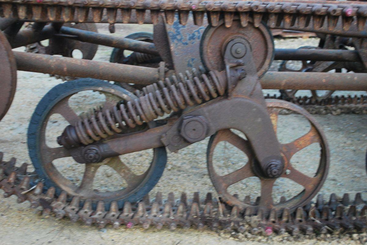 galets à barreaux et garde boues - roue de J7-