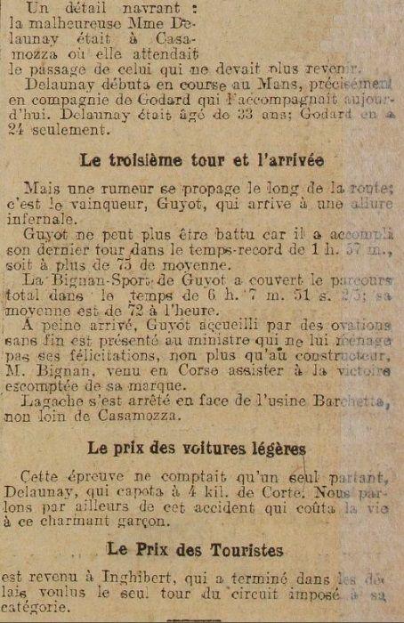 GRAND PRIX DE LA CORSE 1921