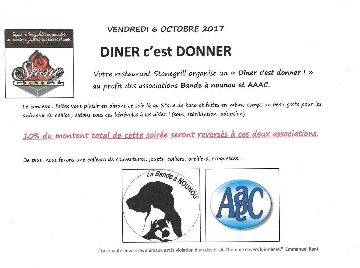 C'est demain -vendredi 06 Octobre- Et c'est au STONEGRILL steakhouse de BACO - KONE