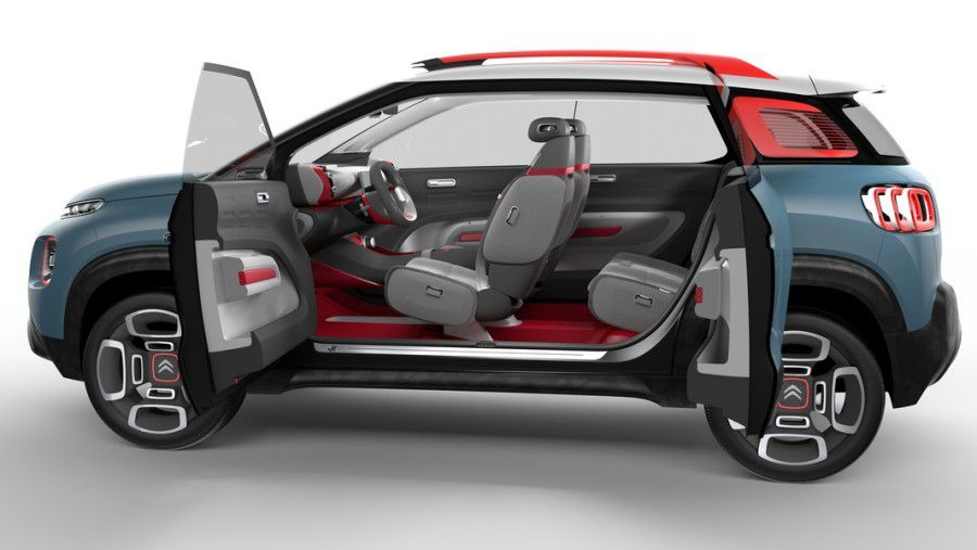 Citroën C3 Aircross, habitacle (2017).
