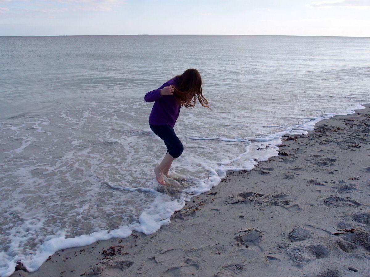 La mer glacée ne rebute pas un enfant motivé !