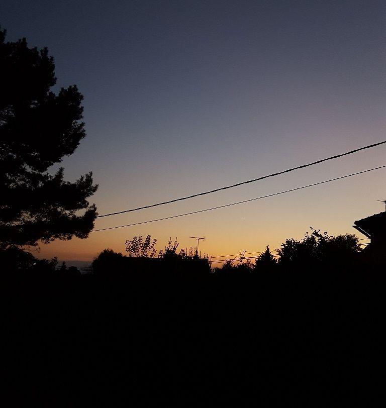 Dernier coucher de soleil avant l'heure d'hiver !