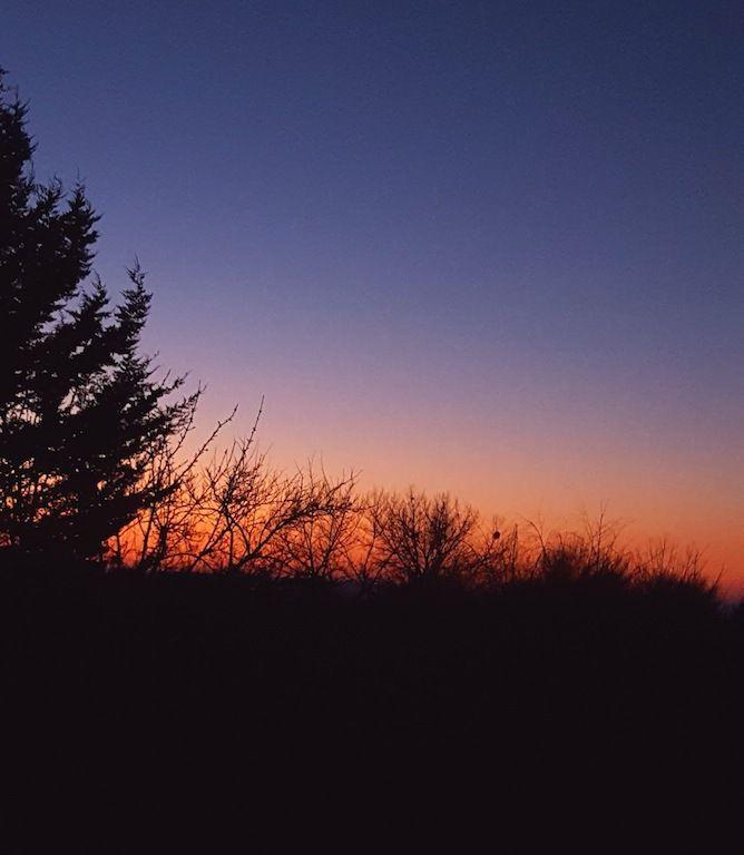 Magie du matin que j'observe longuement quand j'ai le temps... sunrise, sunrise...