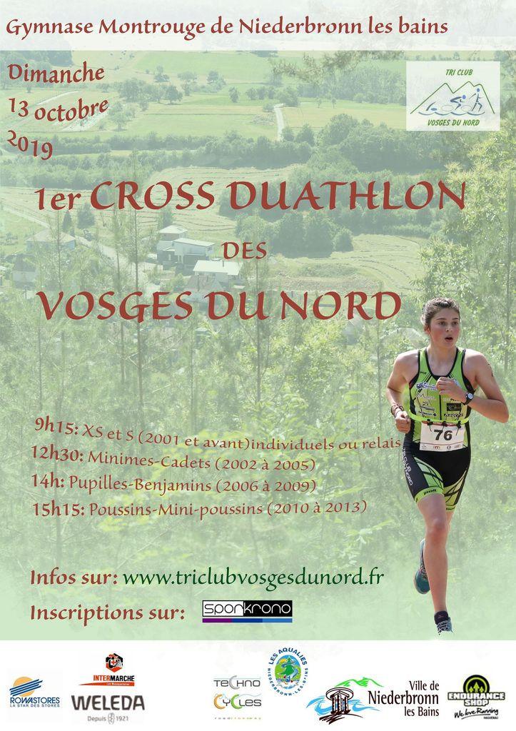 Inscriptions au premier cross duatlon des Vosges du Nord