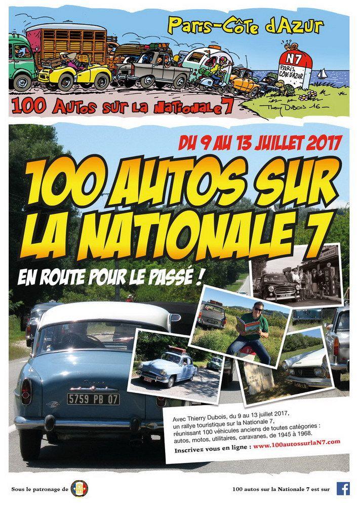 de passage à Avignon 100 AUTOS SUR LA NATIONALE 7 DU 9 AU 13 JUILLET 2017