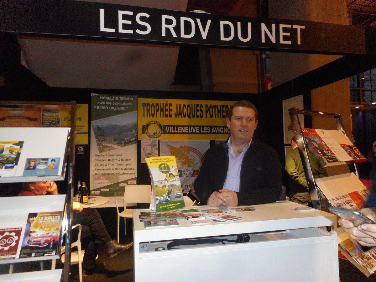 Le stand Les RDV du NET sur Salon RETROMOBILE 2017