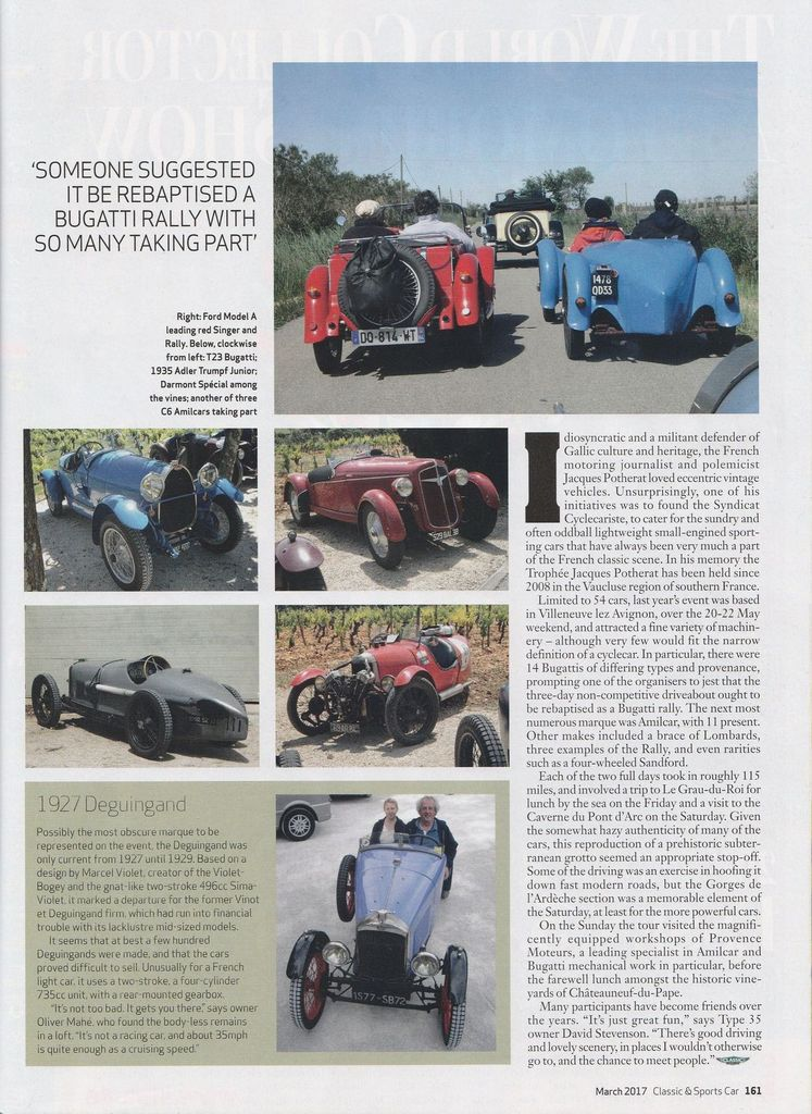 TROPHÉE Jacques POTHERAT  et CLASSIC & SPORTS CAR The world's best selling classic car magazine EN TRADUCTION,