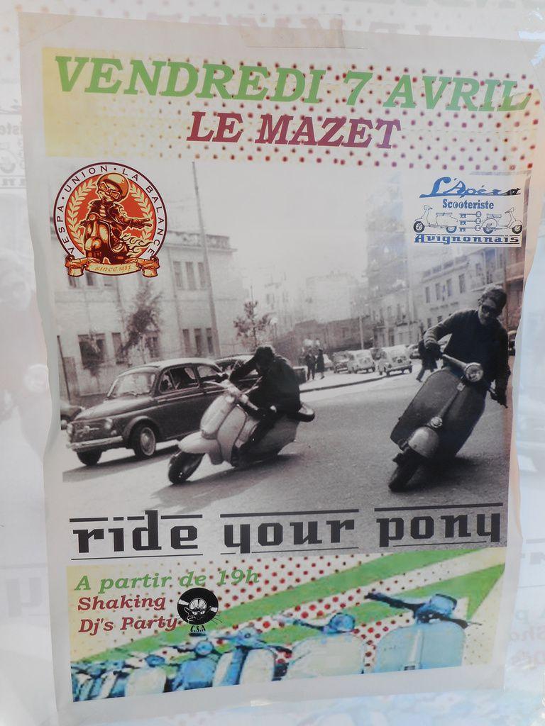 DJ'S PARTY - LE BON SON DES ANNÉES 60 au LOU MAZET vendredi 7 AVRIL avec L'Apéro Scooteriste Avignonnais