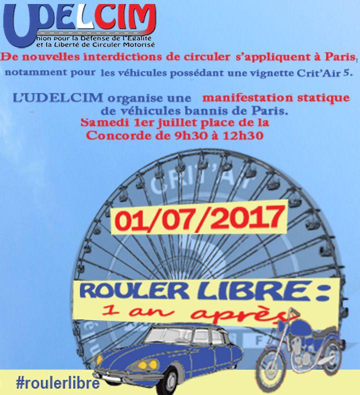 Avec l'UDELCIM - samedi 1er JUILLET à PARIS