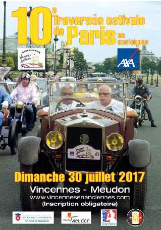 10e Traversée de Paris estivale en anciennes