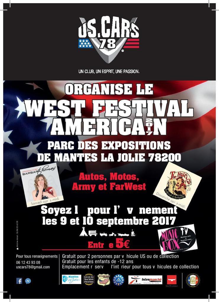 WEST FESTIVAL AMERICAN 2017 - samedi 9 et dimanche 10 septembre 2017 à Mantes la Jolie (78)