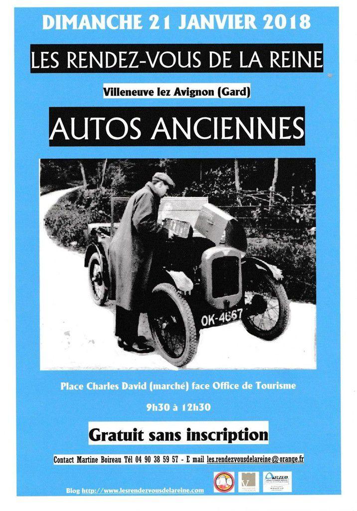 AUTOS et MOTOS ANCIENNES le 21 JANVIER à VILLENEUVE LEZ AVIGNON (Gard)