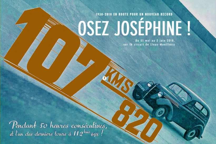 OYEZ ! OYEZ !! OSEZ Joséphine et soutenez une Renault JUVAQUATRE sur les traces d'un record qui date de mars 1938
