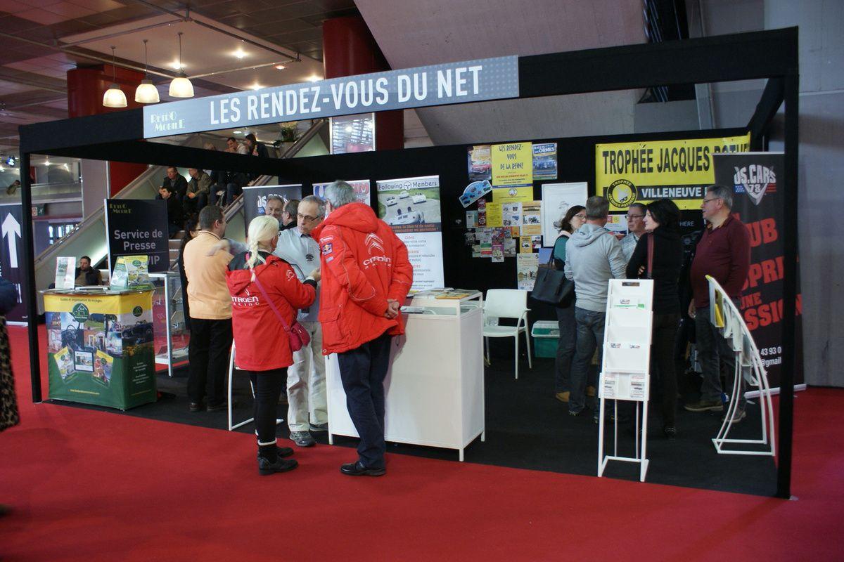 Le stand « Les RDV du NET » RETROMOBILE 2018