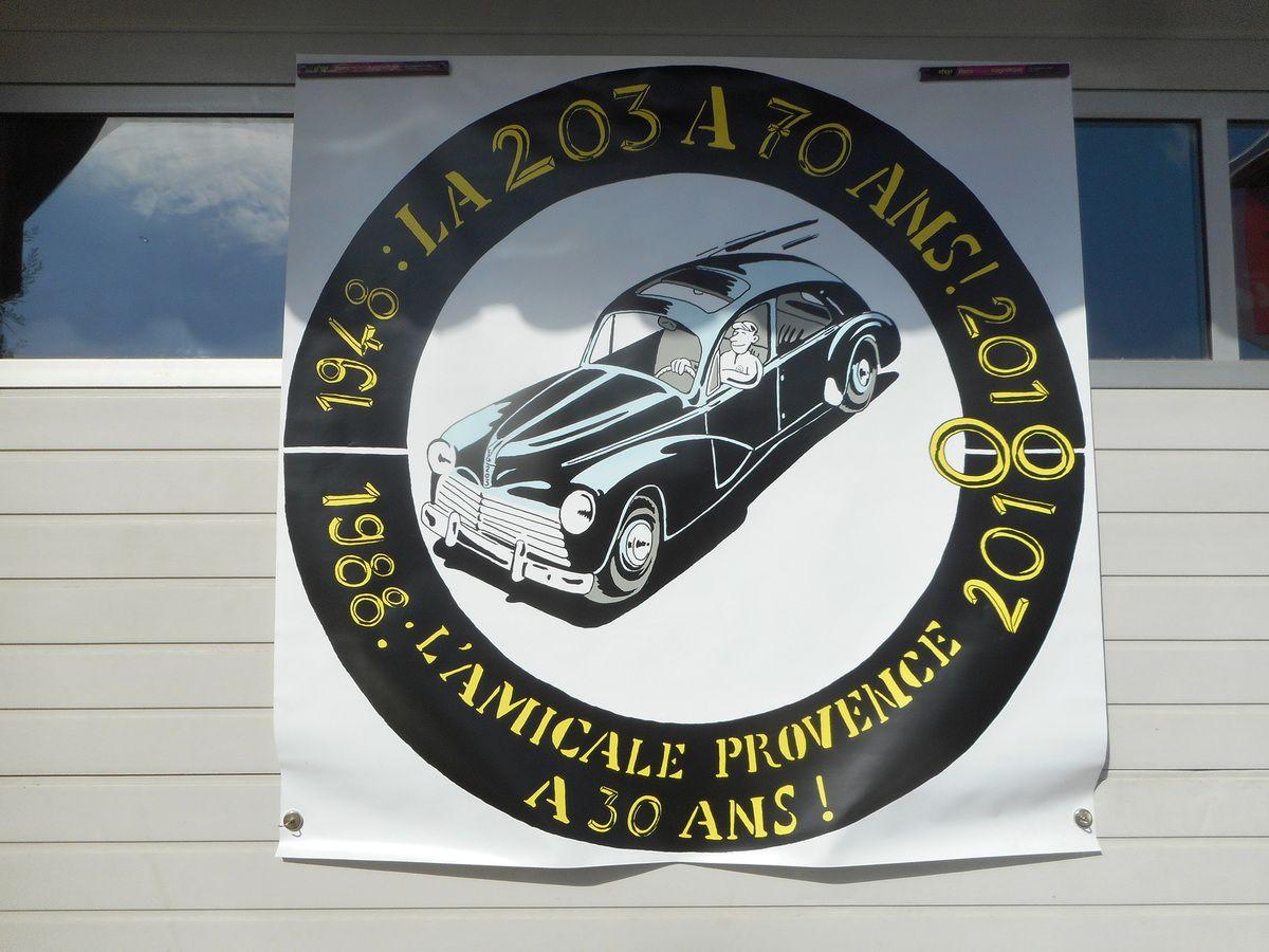 1988 – 2018 L'Amicale PEUGEOT 203 PROVENCE  à 30 ans