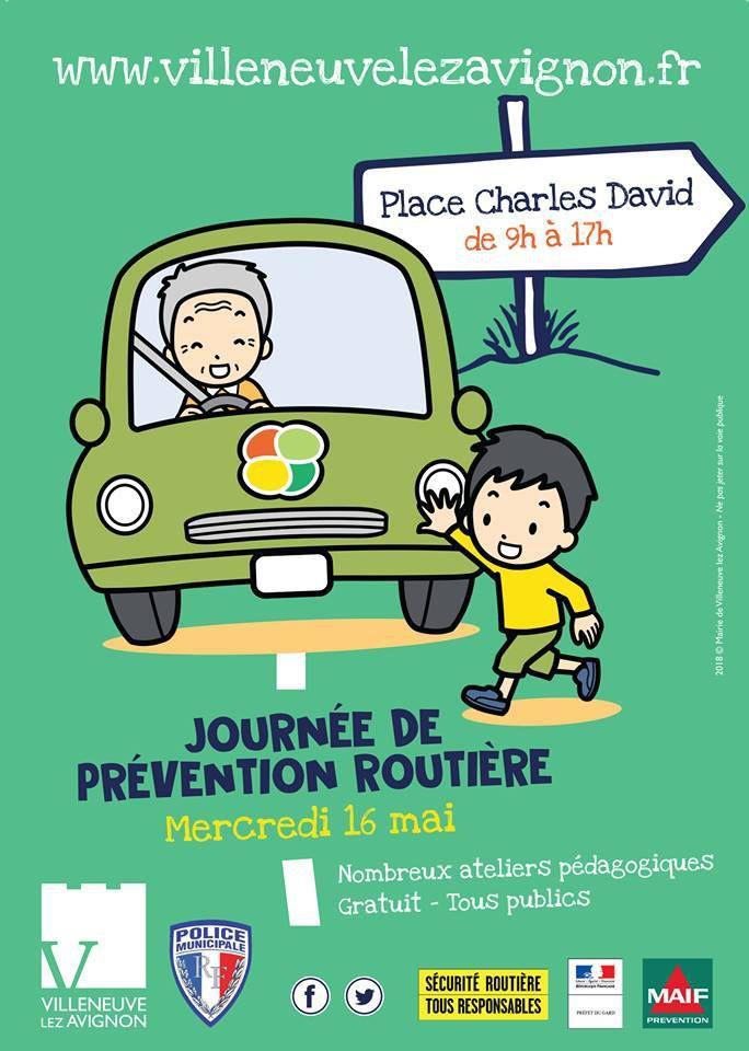 Journée de PRÉVENTION ROUTIÈRE  avec la SÉCURITÉ ROUTIÈRE à Villeneuve lez Avignon