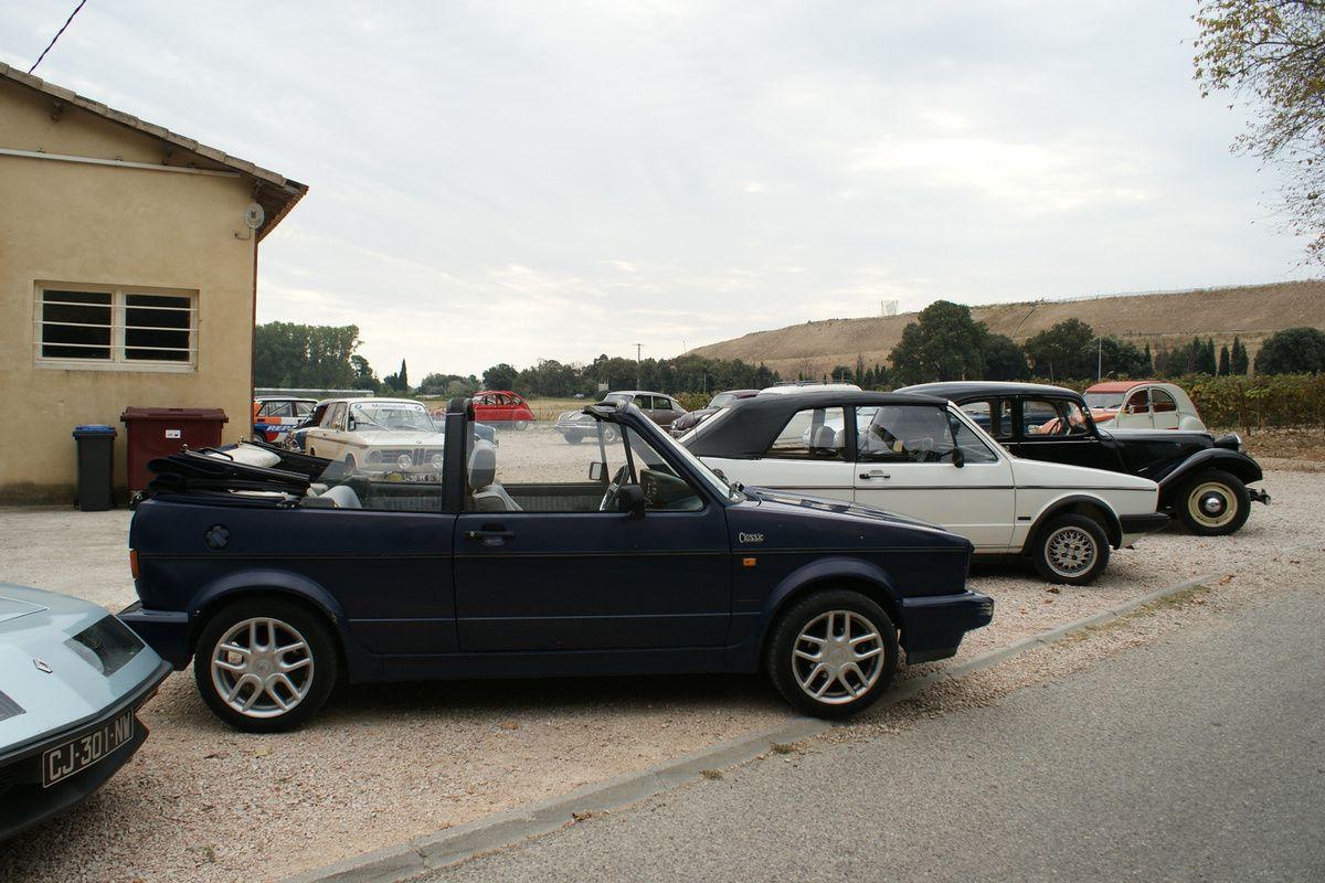 Avec LES TEUFS-TEUFS à PAPY- 6ème Balade dans les Vignes – 30 septembre 2018 destination Châteauneuf du Pape et le Domaine de la PALUD