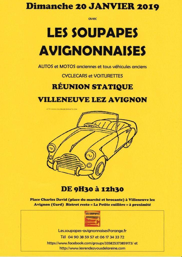 Dimanche 20 JANVIER 2019 - Voitures anciennes à villeneuve lez Avignon dans le Gard