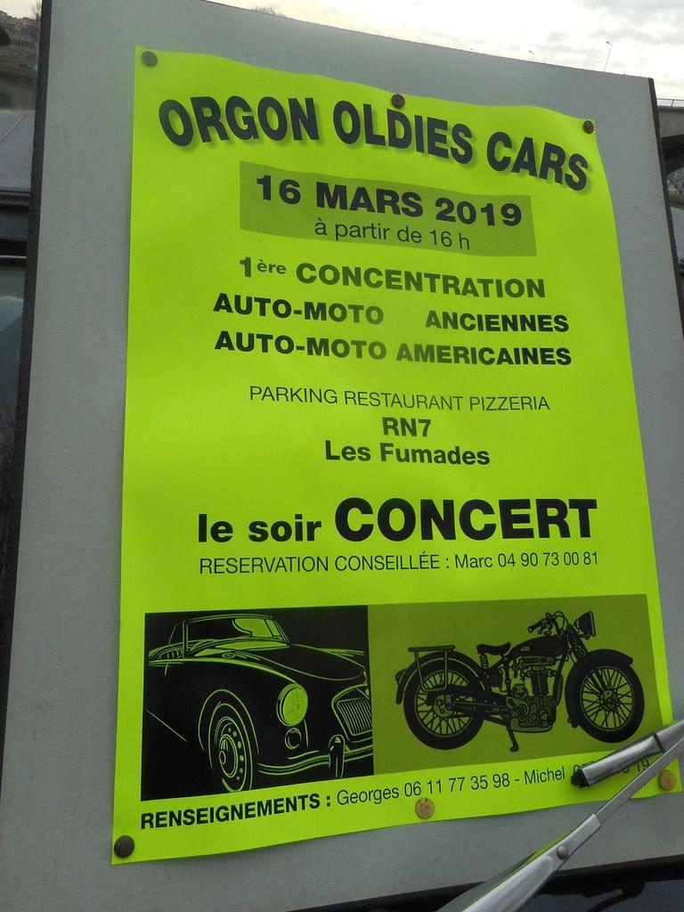 Samedi 16 MARS 2019, une grande PREMIÈRE à ORGON (13) AUTO-MOTO ANCIENNES & AUTO-MOTO AMÉRICAINES avec ORGON OLDIES CARS