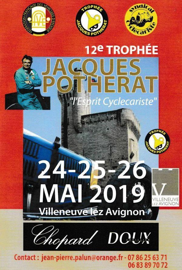 A l'occasion des portes ouvertes de l'Aérodrome Vauclusien, l'entonnoir masqué du TROPHÉE Jacques POTHERAT posera ses roues en attendant l'arrivée de FÉLICIE en fin de journée, dimanche 5 MAI 2019.