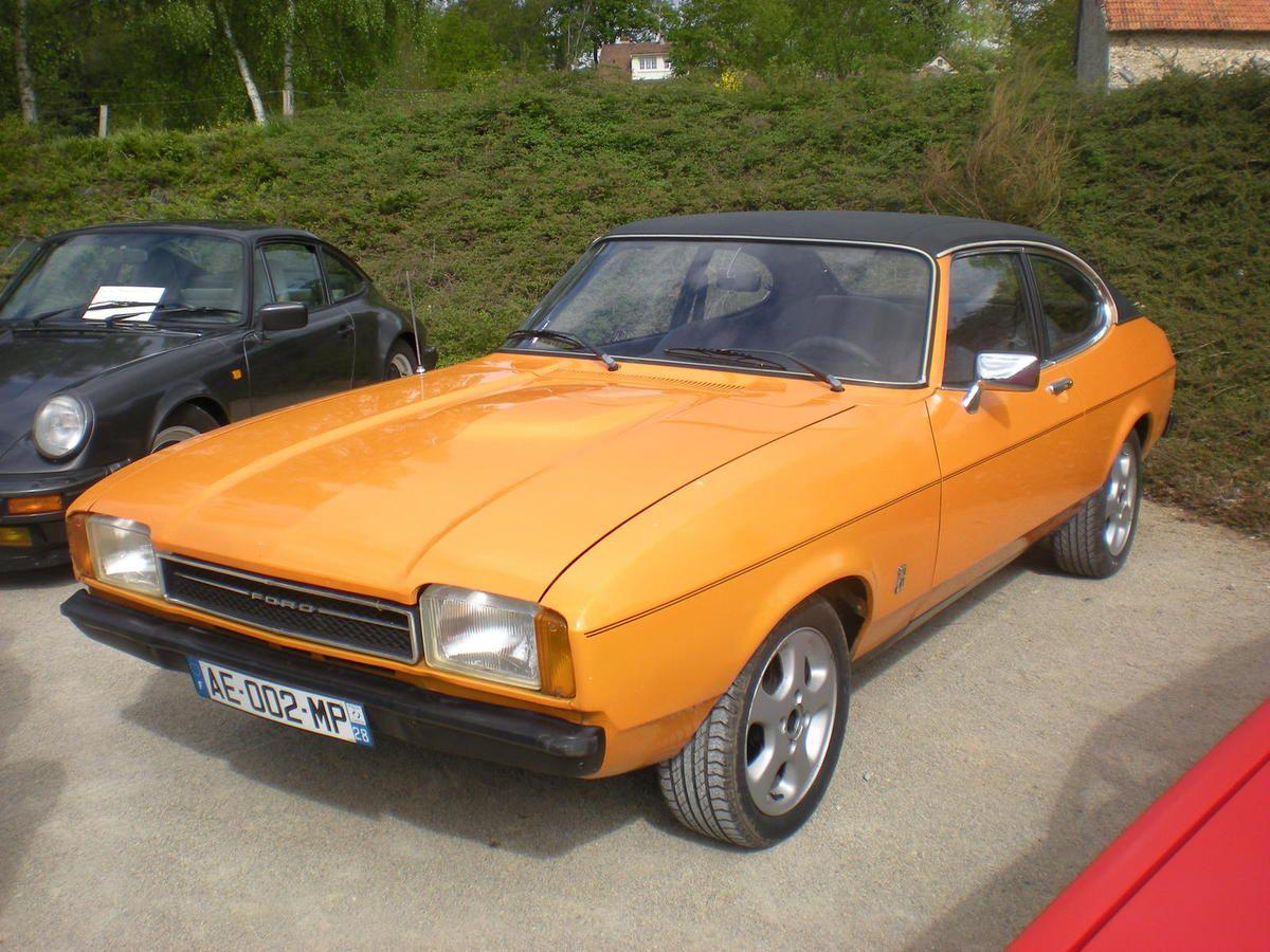 Comme le faisait remarquer Pascal aux personnes présentes, FORD Capri RS 2600, bleue et blanche, une vraie sportive allemande