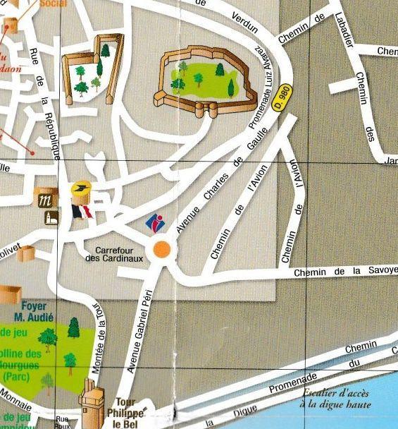 VOITURES ANCIENNES à VILLENEUVE LEZ AVIGNON dimanche 18 AOÛT 2019  Le plan d'accès