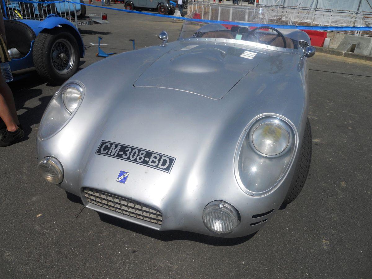 La même que celle de Jean Behra & Louis Rosier en 1956 - A notre ami SEB - barquette TALBOT LAGO  T14 America - Pichon –Parat