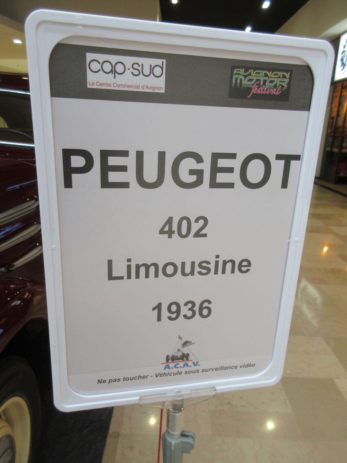 UN SIÈCLE DE LOCOMOTION - EXPOSITION DE VOITURES ANCIENNES en partenariat avec Avignon Motor Festival - Du 2 au 7 MARS 2020 au centre commercial CAP SUD
