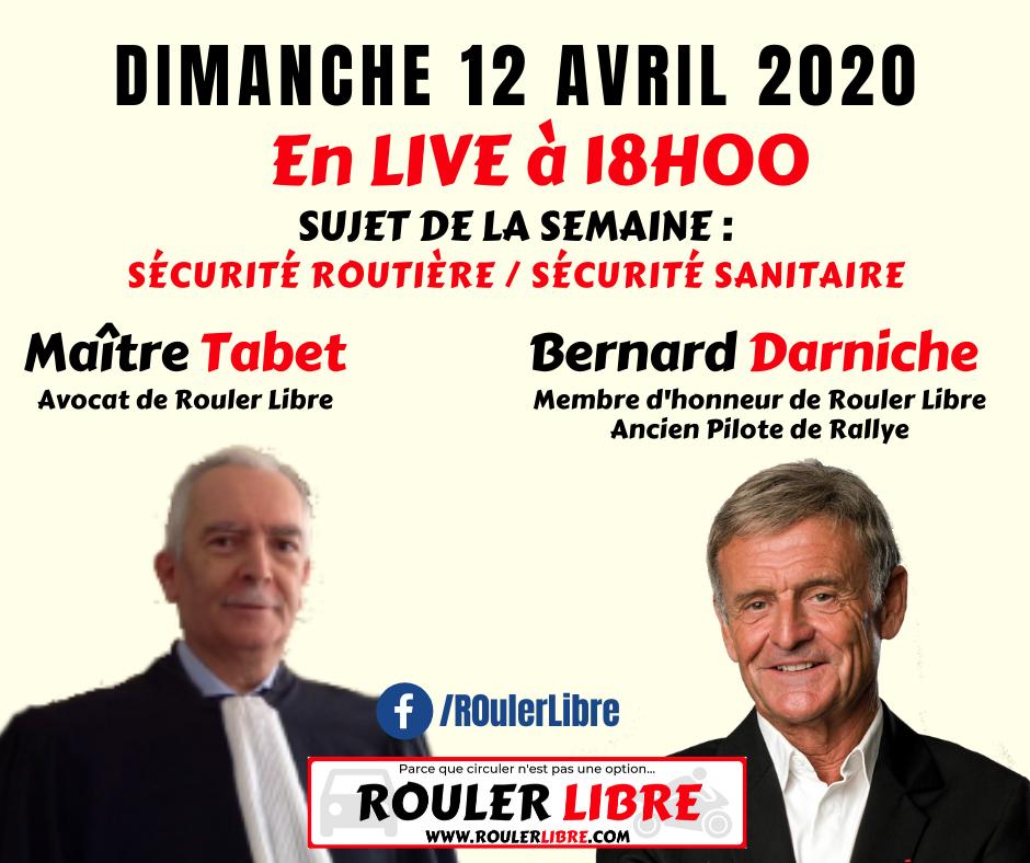 Hier au soir dimanche 12 AVRIL 2020, à 18h, c'était la 2ème projection VIDÉO LIVE avec ROULER LIBRE by UDELCIM